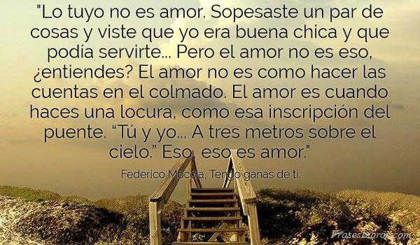 Imagen Lo Tuyo No Es Amor Sopesaste Un